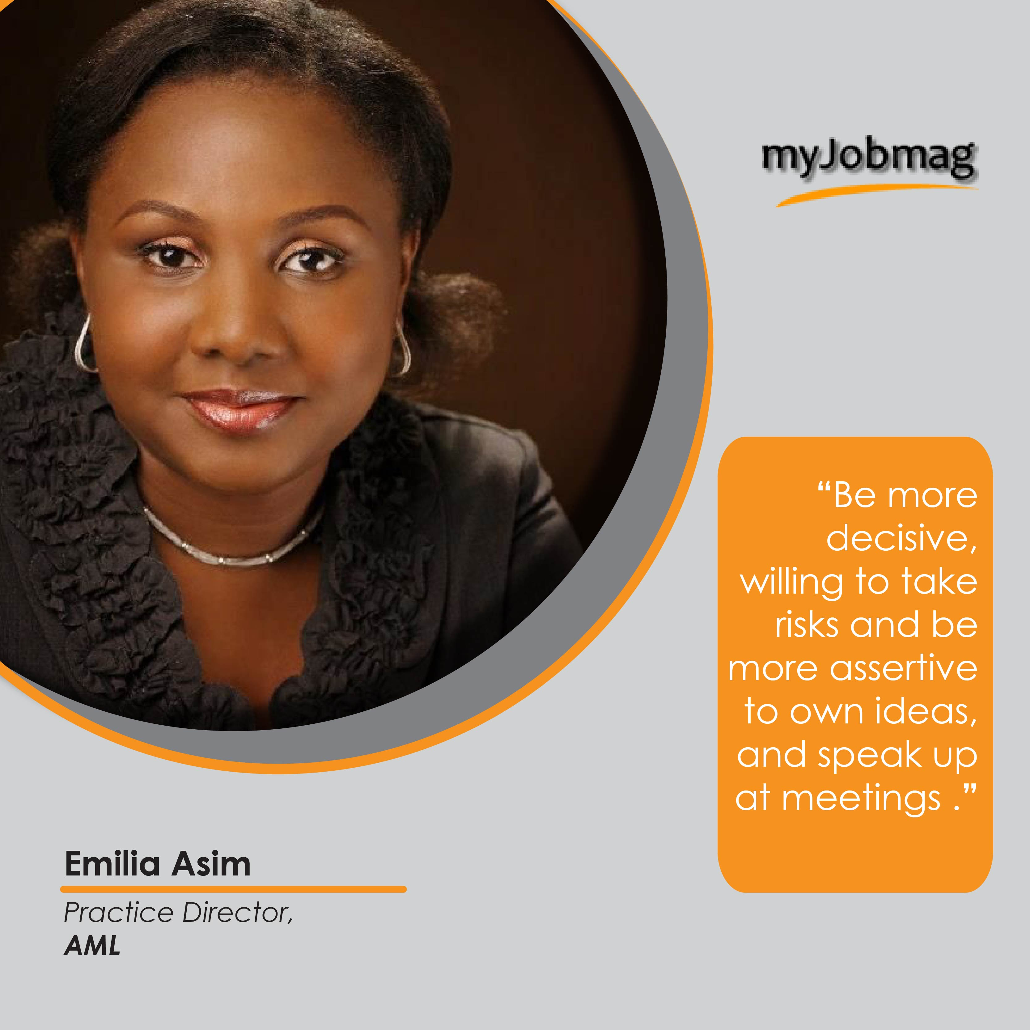 Emilia Asim career advice MyJobMag