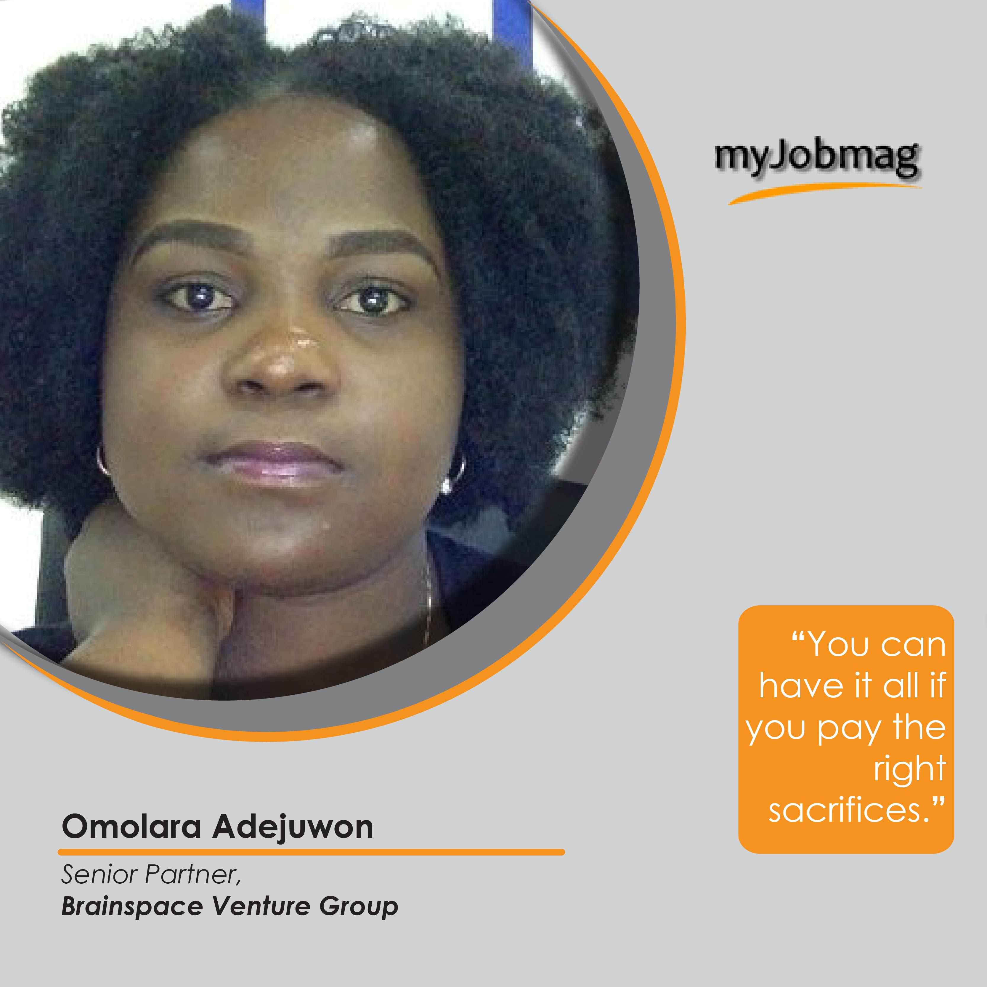 Omolara Adejuwon career advice MyJobMag