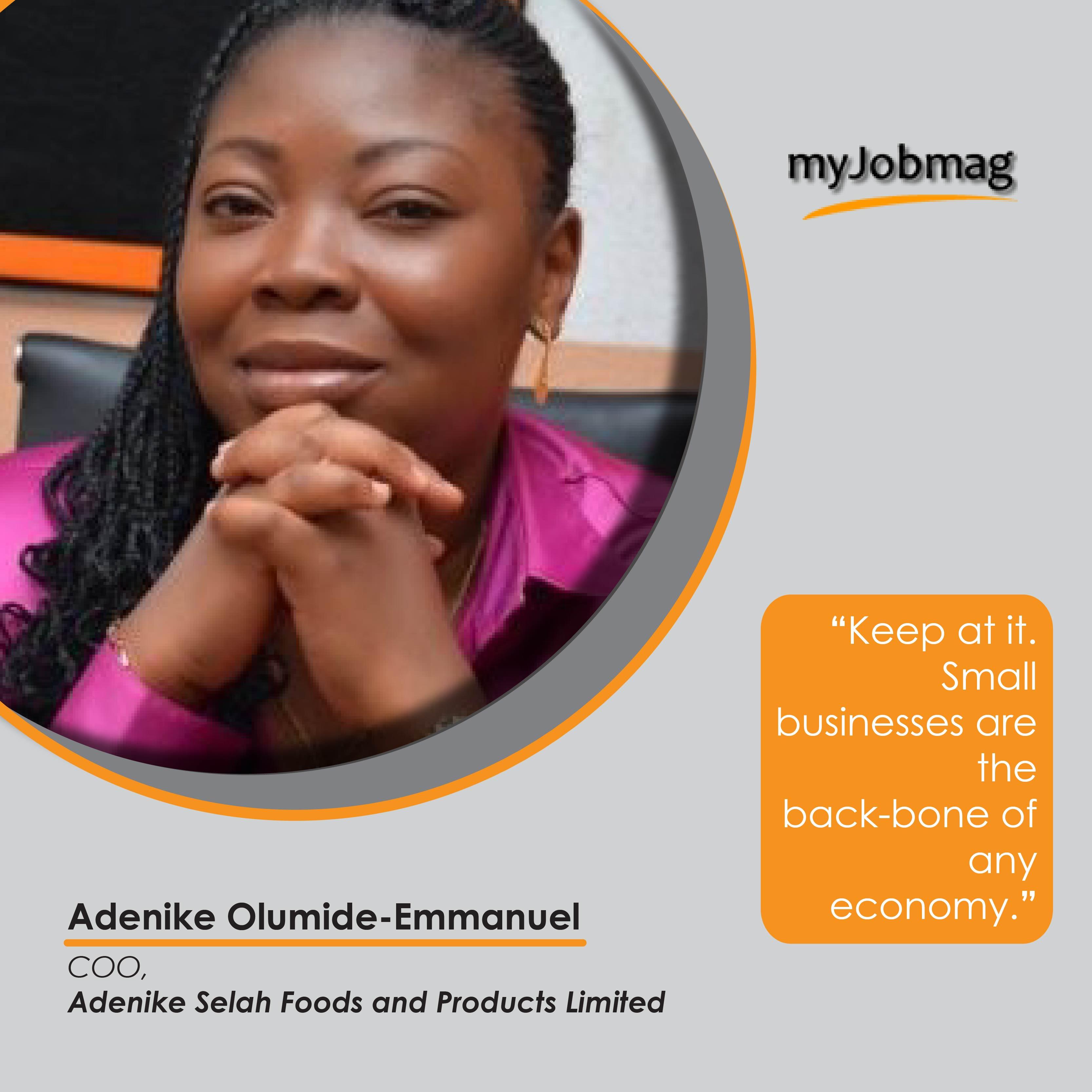 Adenike Olumide Emmanuel career advice MyJobMag