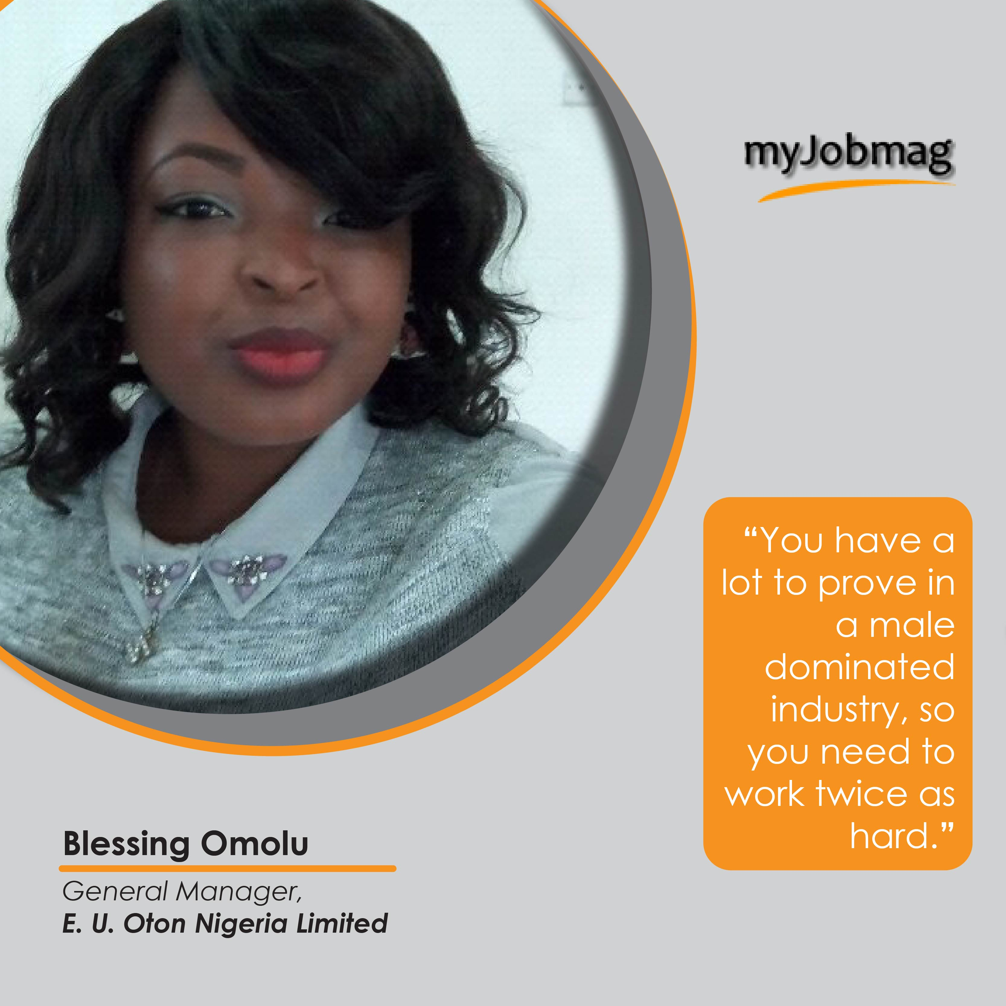 Blessing Omolu career advice MyjobMag