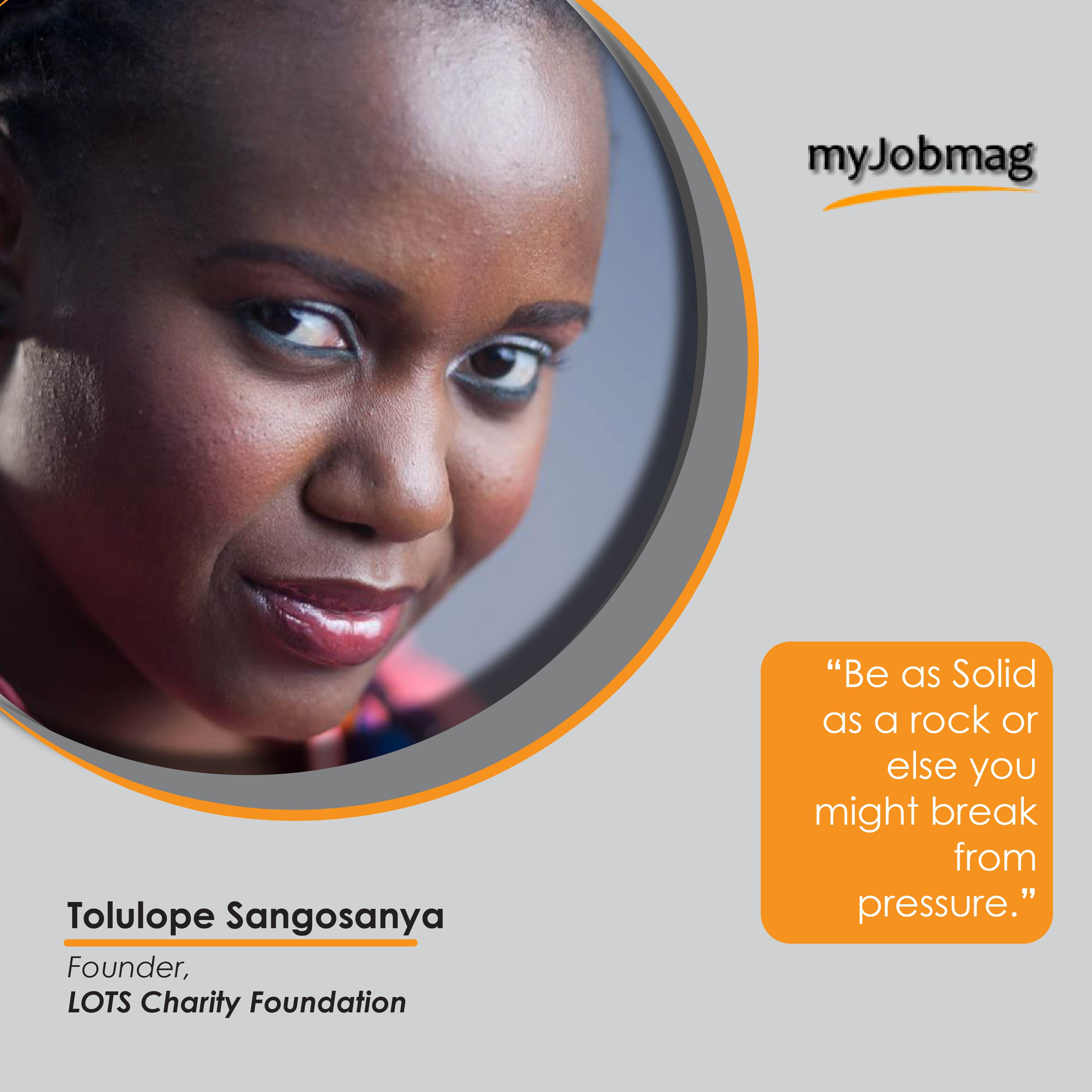 Tolulope Sangosanya career advice MyJobMag