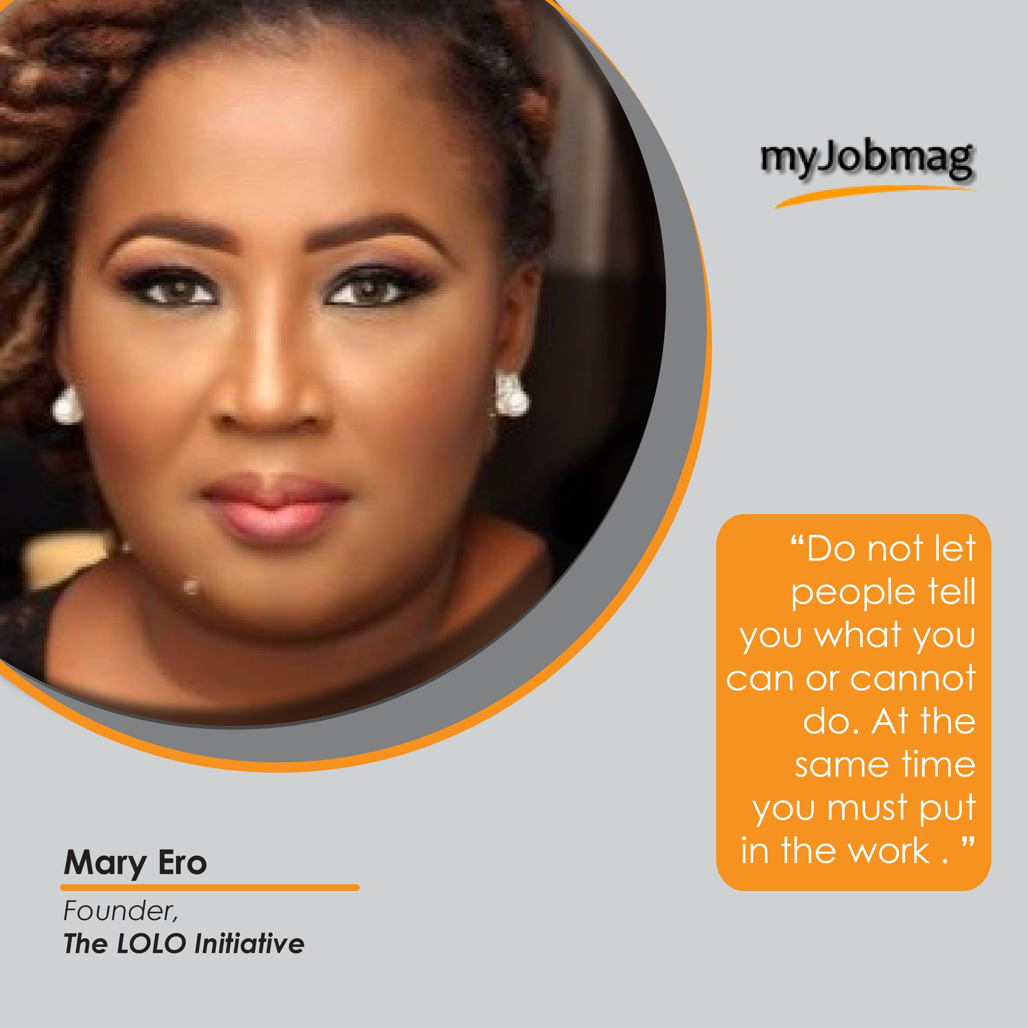 Mary Ero career advice MyJobMag