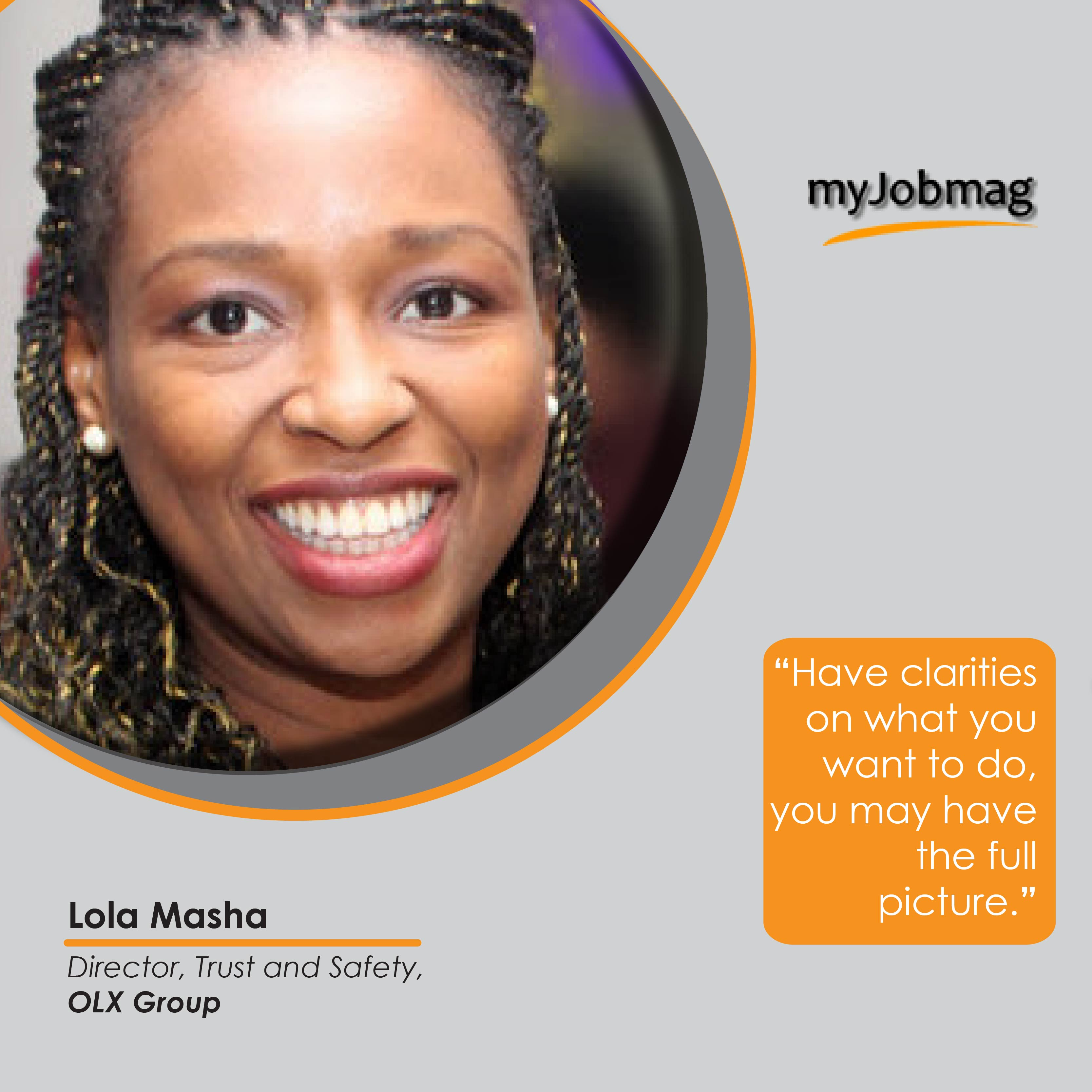 Lola Masha career advice MyJobMag