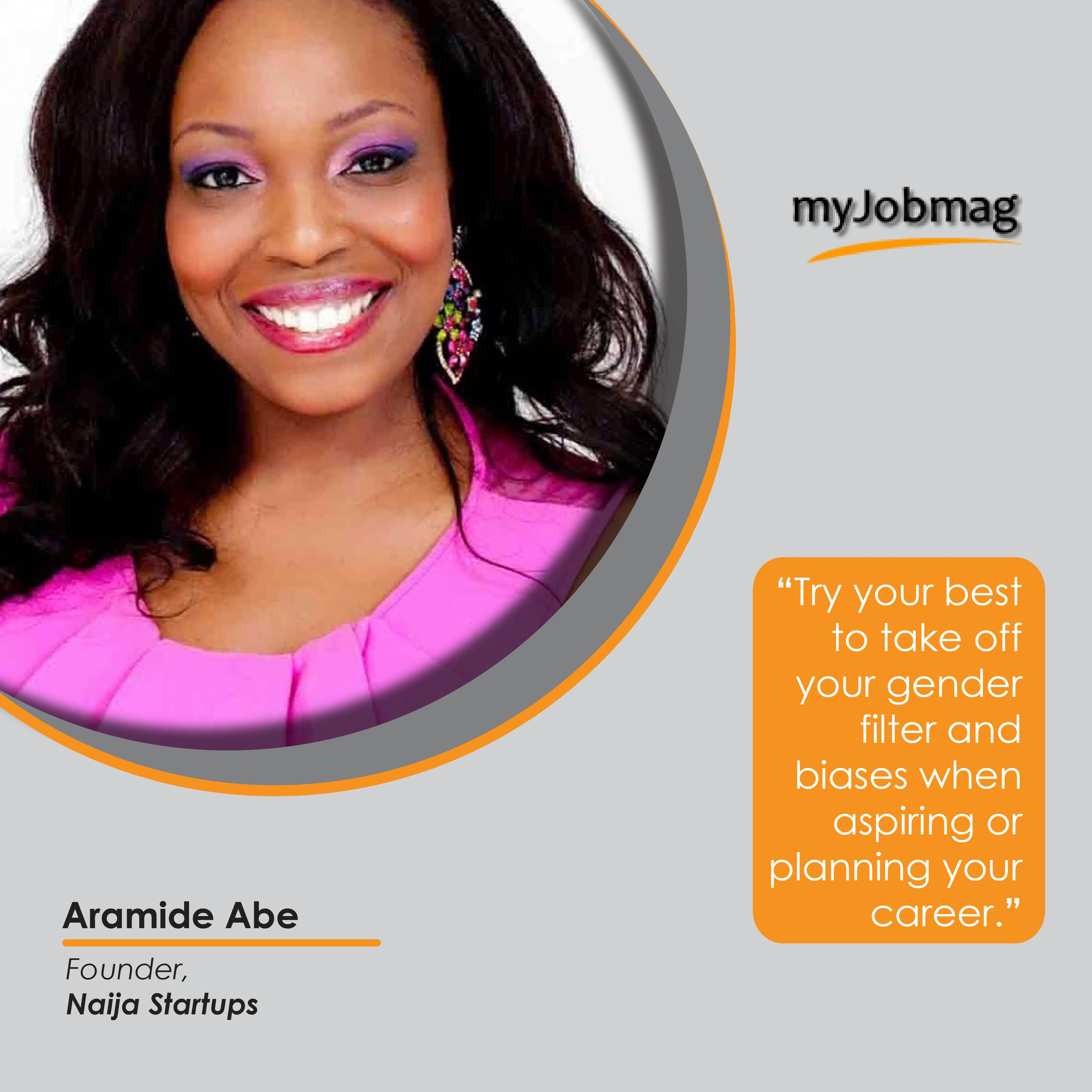 Aramide Abe career advice MyJobMag