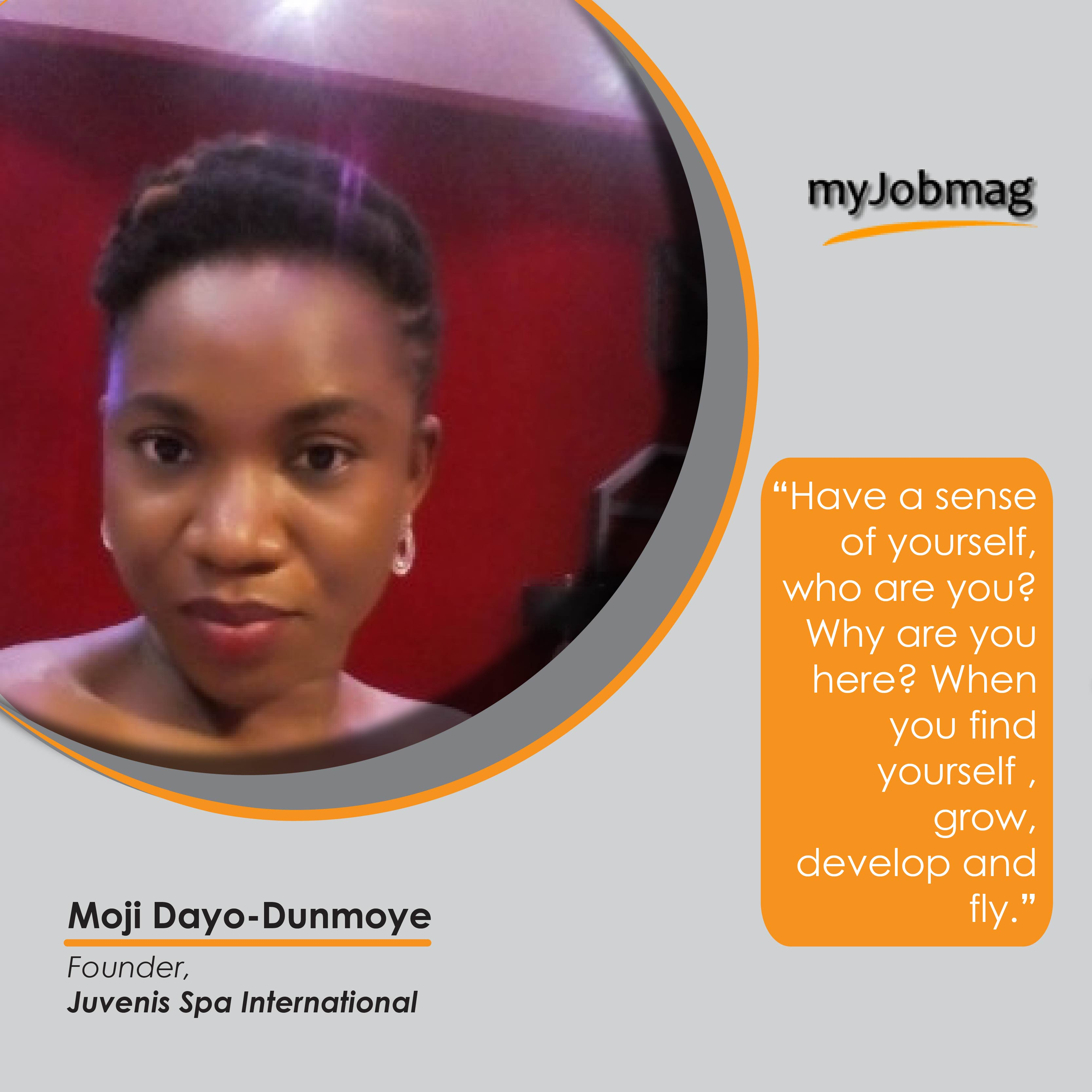 Moji Dayo Dunmoye career advice MyJobmag