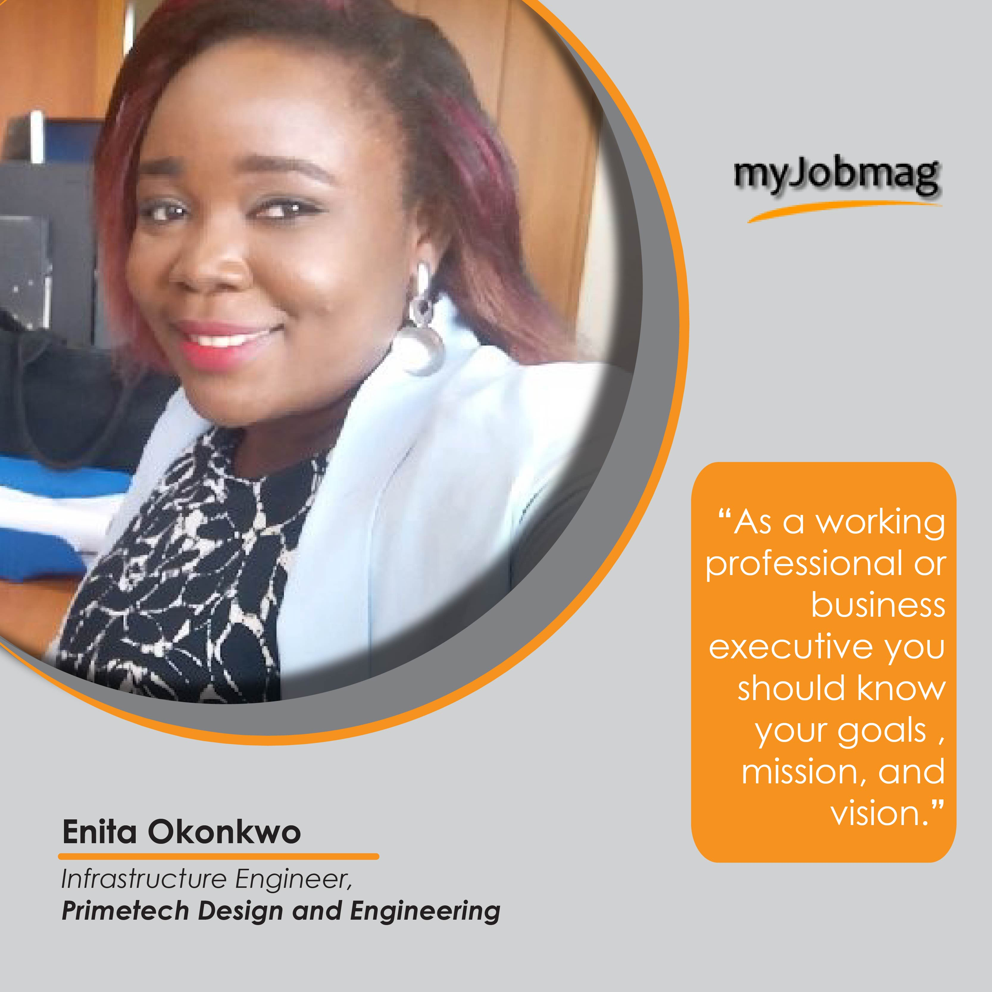 Enita Okonkwo career advice MyJobMag