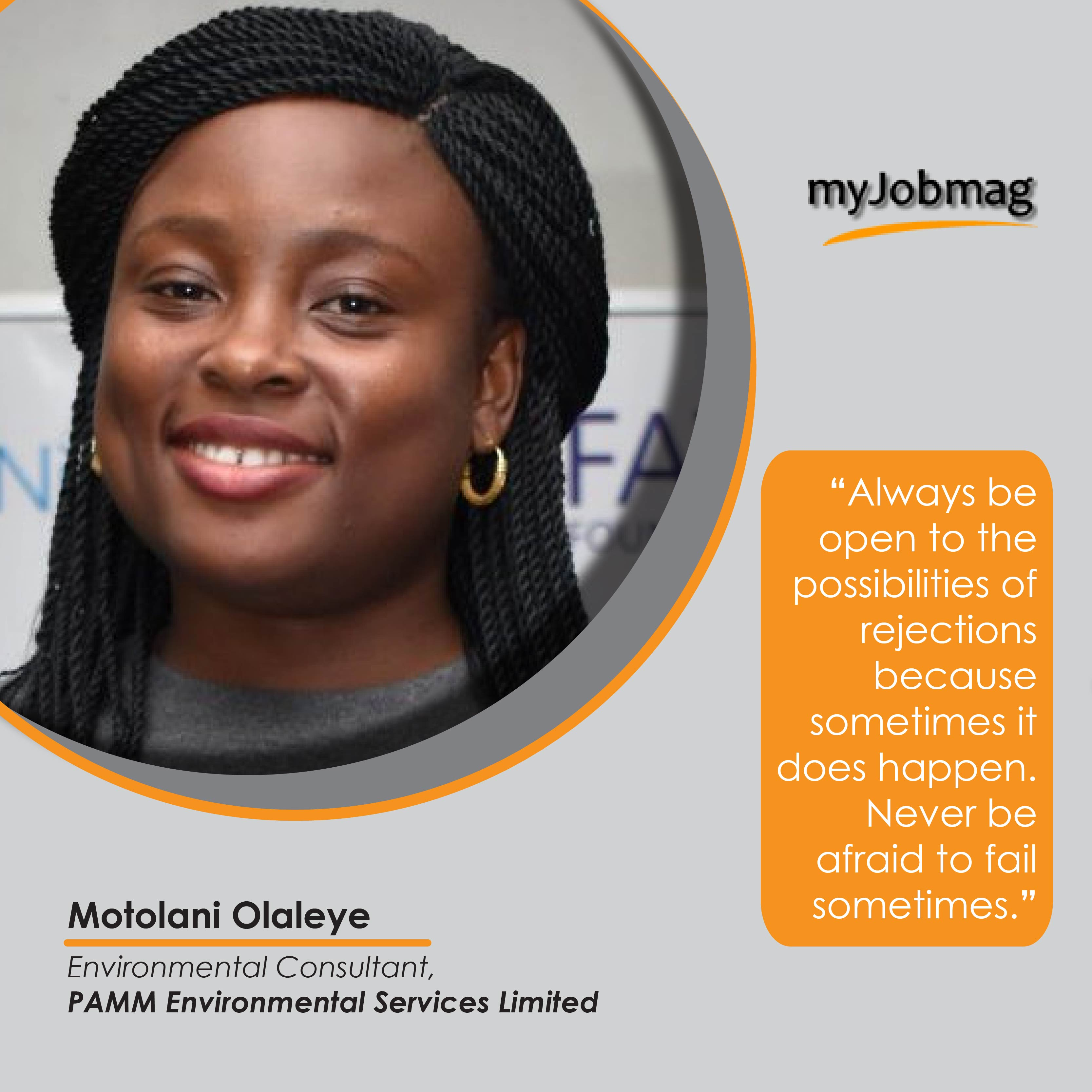 Motolani Olaleye career advice MyJobMag