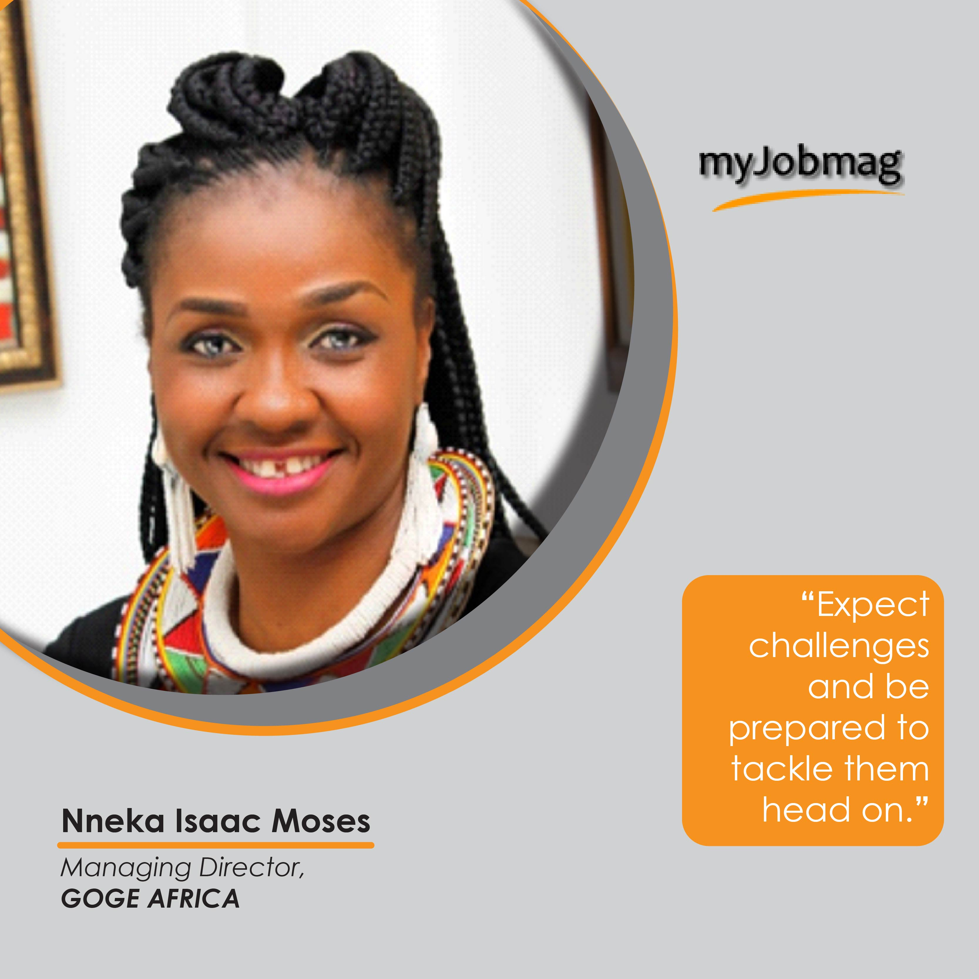 Nneka Isaac career advice MyJobMag