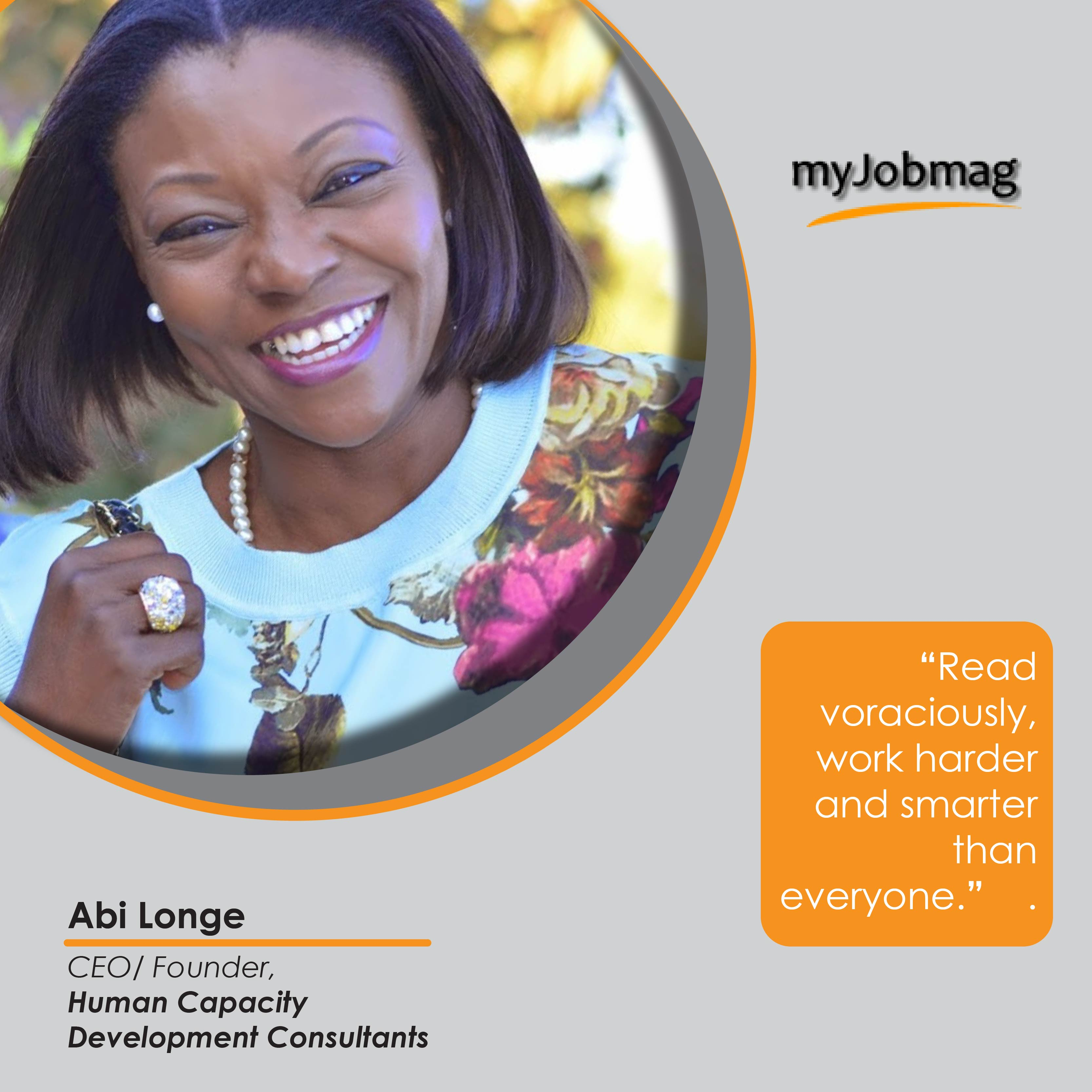 Abi Longe career advice MyJobMag