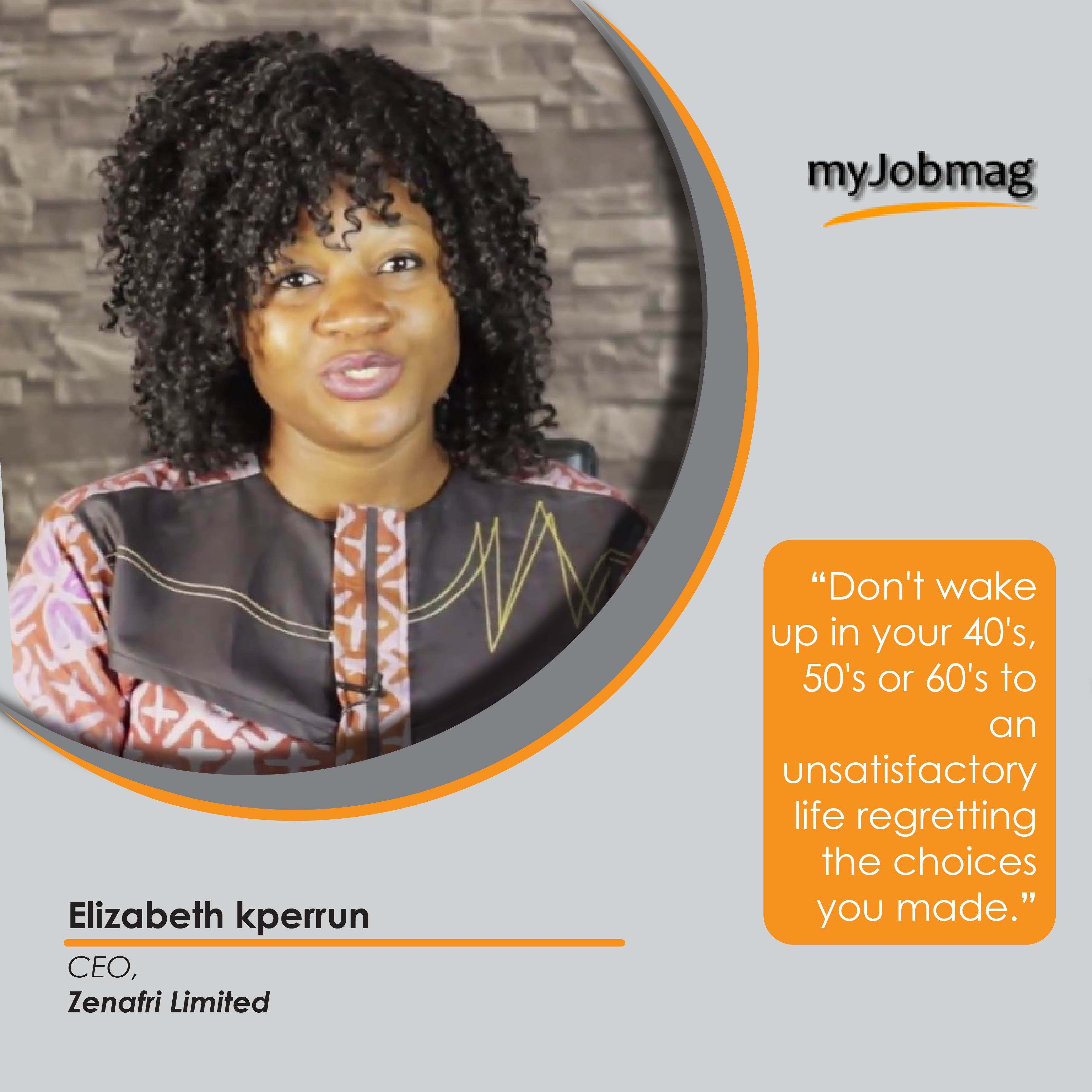 Elizabeth Kperrun career advice MyJobMag