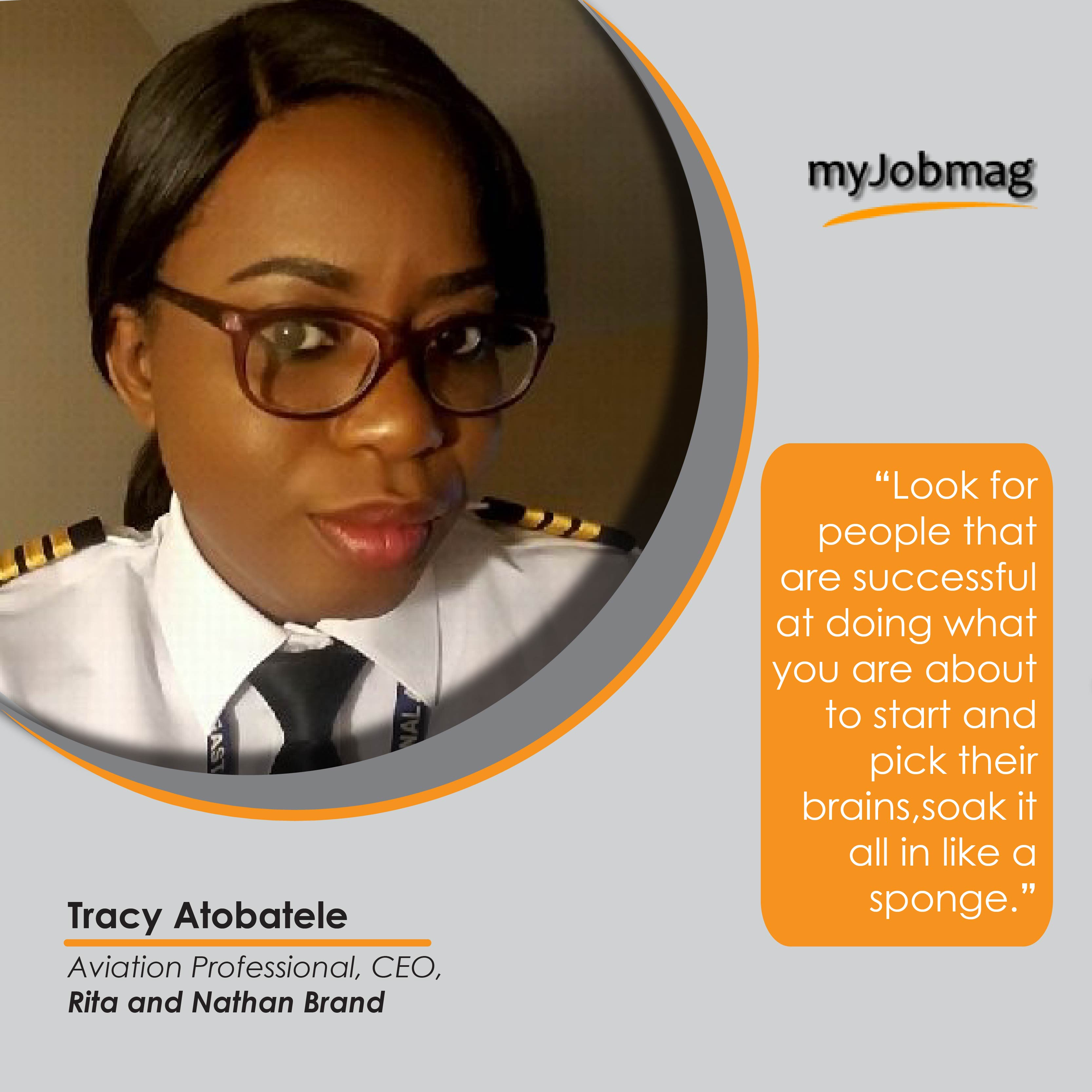 Tracy Atobatele career advice MyjobMag