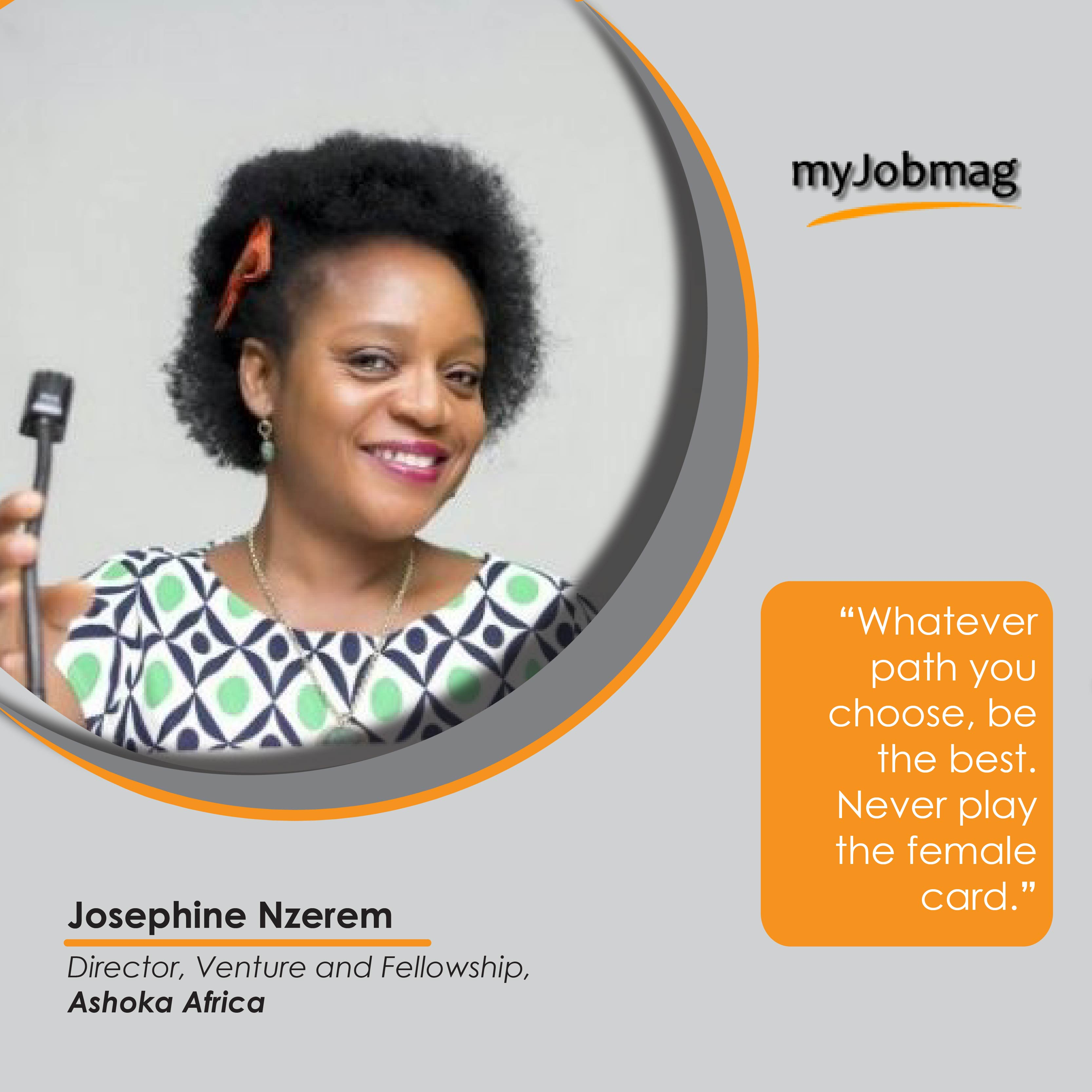 Josephine Nzerem career advice MyJobMag