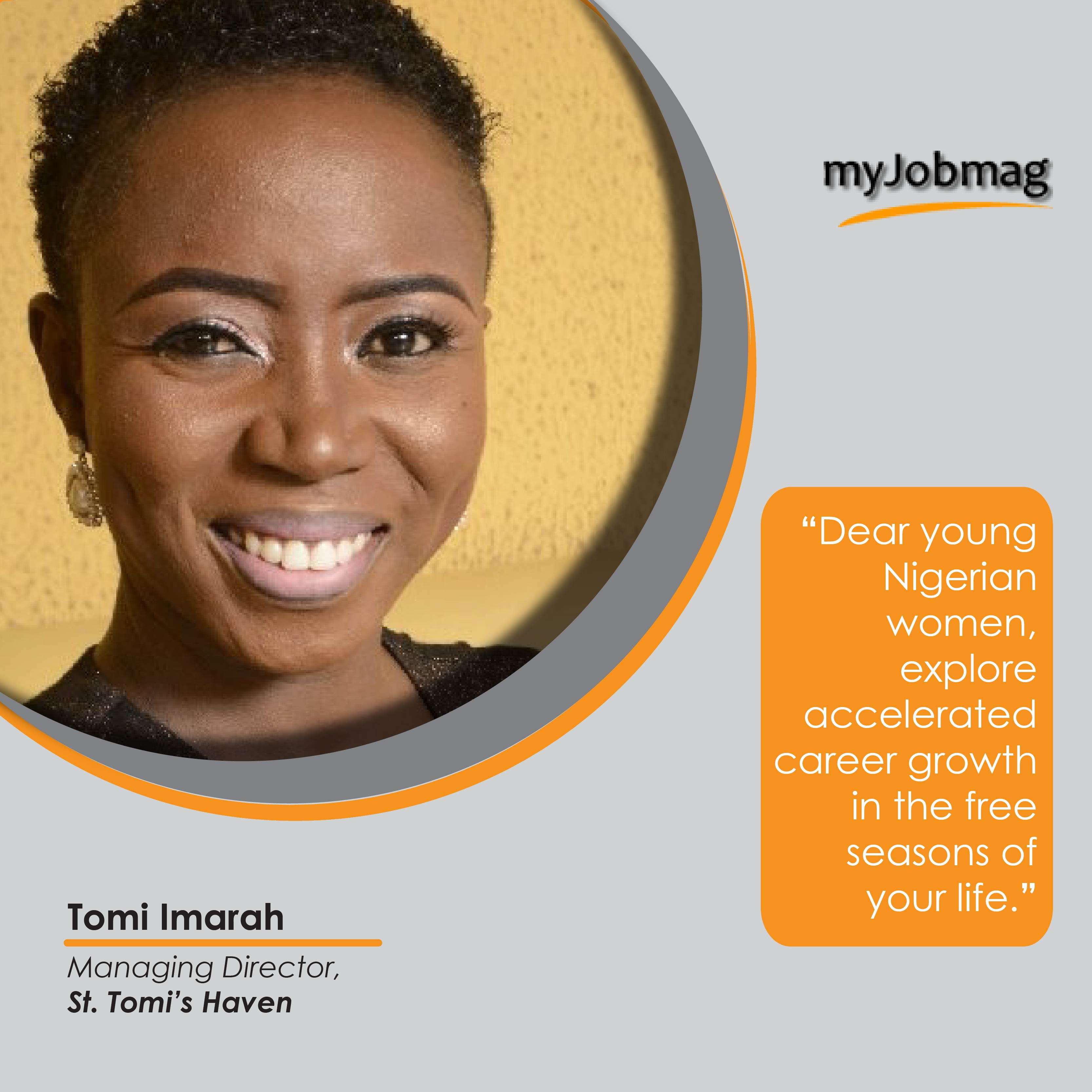 Tomi Imarah career advice MyJobMag