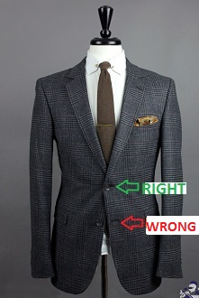fashion mistake button men