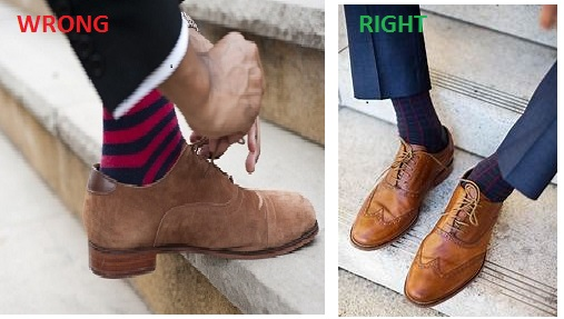 wrong sock fashion mistake