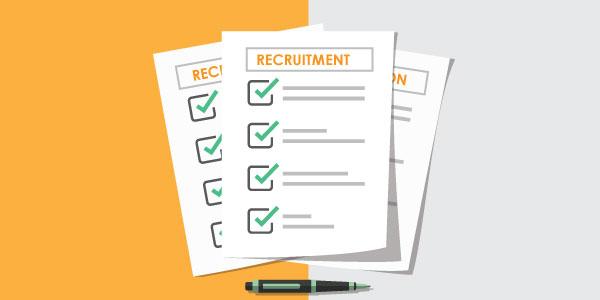 What is recruitment checklist