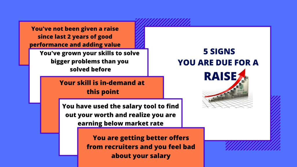5 signs you are due for a raise